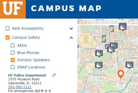 University Of Florida Location Map.Alert University Of Florida